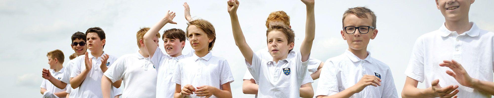 Pupils at Hartford Church of England High School