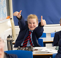 Girl running in sports day