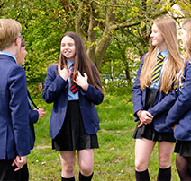 Pupils on school trip