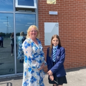 Veritas was opened by Mrs Harries, our longest serving member of staff and Leah Moss, our youngest s