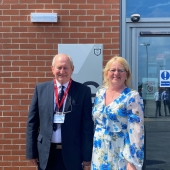 Mr & Mrs Harries have over 80 years service to the school between them