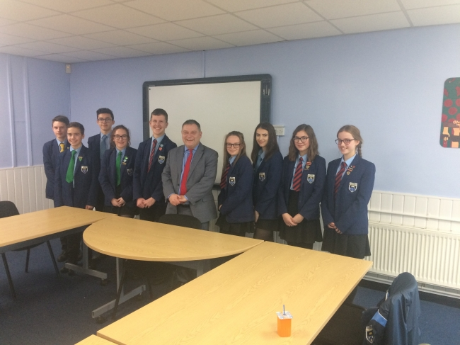 MP Mike Amesbury visits school